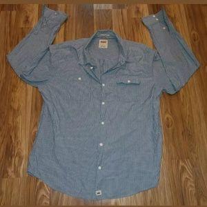 Levis hickory striped XL button down shirt l